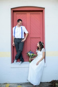 Wedding red door